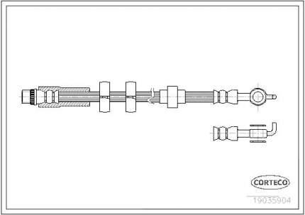 Шланг тормозной системы CORTECO 19035904