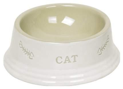 Одинарная миска для кошек Nobby, керамика, белый, 0.14 л