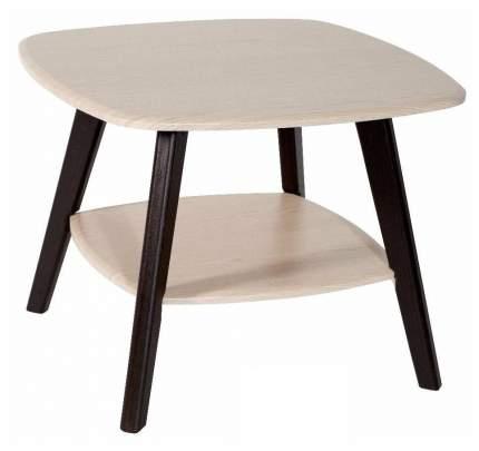 Журнальный столик Мебелик Хадсон 579 65х65х50 см, дуб белёный/венге