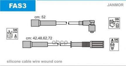 Комплект проводов зажигания JANMOR FAS3