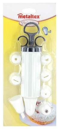 Кондитерский шприц Metaltex С 8 насадками