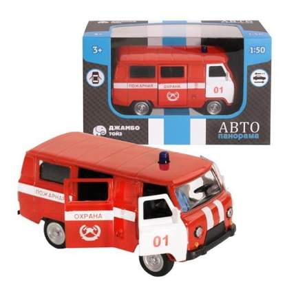 Машинка металлическая Автопанорама Пожарная охрана, красная, 1200054