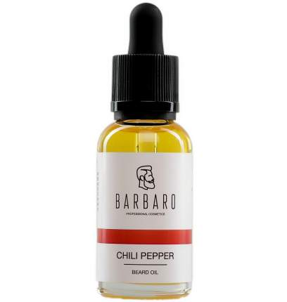 Масло для роста бороды Barbaro Beard Oil Chili pepper Перец Чили 30 мл