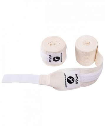 Бинт боксерский Rusco Sport, 4,5 м, хлопок, белый