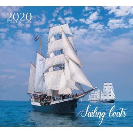 Календарь 2020 Величественные парусники (скрепка), КС122011