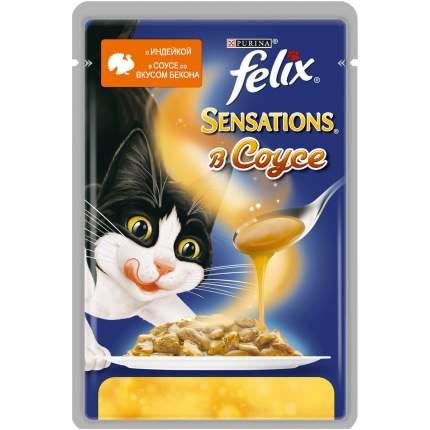 Влажный корм для кошек Felix Sensation, индейка, 85г