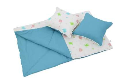Комплект детского постельного белья Polini Монстрики голубой