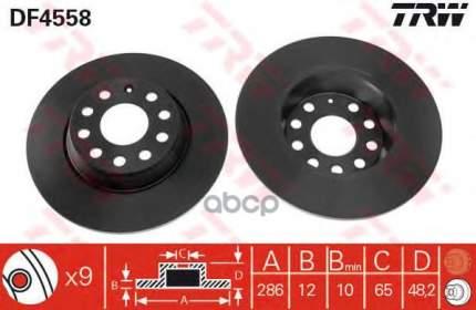 Тормозной диск TRW/Lucas DF4558 задний