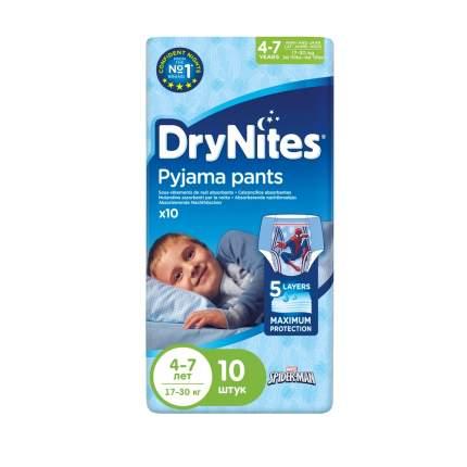 Подгузники-трусики Huggies DryNites для мальчиков 4-7 лет, 10 шт.