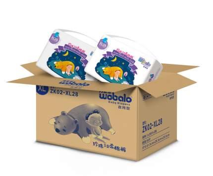 Подгузники Wobalo XL 13-17кг 28 шт. 2 упаковки