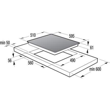 Встраиваемая варочная панель индукционная Gorenje IQ634USC Black