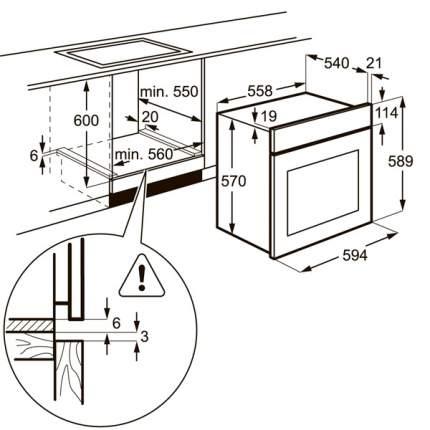 Встраиваемый электрический духовой шкаф Electrolux OPEA4300X Silver/Black