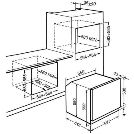 Встраиваемый электрический духовой шкаф Smeg SFP130S-1 Silver