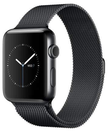 Смарт-часы Apple Watch Series 2 38mm Space Black Stainless Steel/MilaneseLoop(MNPE2RU/A)