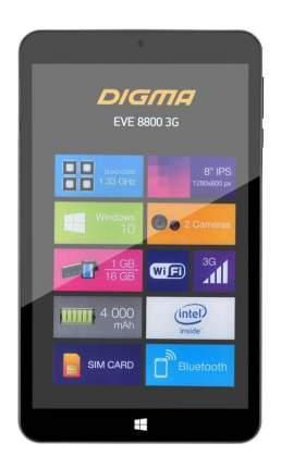 Планшет Digma Eve 8800 Black (ES8031EG)