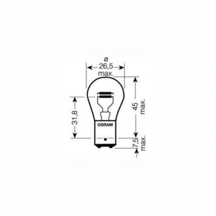 Лампа накаливания автомобильная OSRAM 21 5W 24V BAY15D (7537.02B)