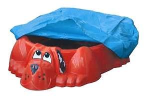 Песочница-бассейн PalPlay Собачка с покрытием
