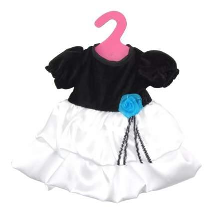 Платье черно-белое 25,5x36x1 см для кукол Junfa toys