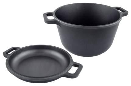 Казан Нева Металл Посуда Литая с крышкой-сковородой 7л 6870