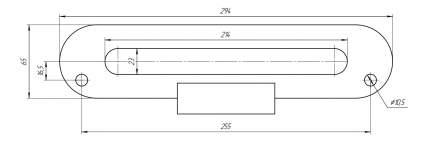 Клюз для автомобильной лебедки Runva pn7608 Чугун Черный