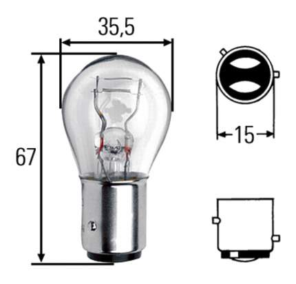 Лампа Hella 21W BAZ15d 8GD 004 772-121