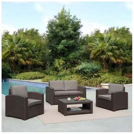 Комплект мебели с диваном AFM-2017B Dark brown