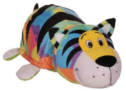 Мягкая игрушка 1 TOY Вывернушка 40 см 2 в 1, Радужный тигр-Черепаха (Т12333)
