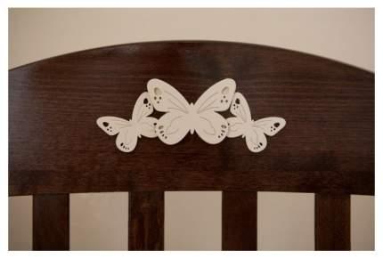 Кровать детская Красная Звезда Елизавета С 553 накладка № 27 бабочка Шоколад