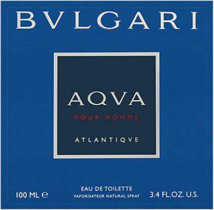 Туалетная вода Bvlgari Aqva Pour Homme Atlantiqve 100 мл