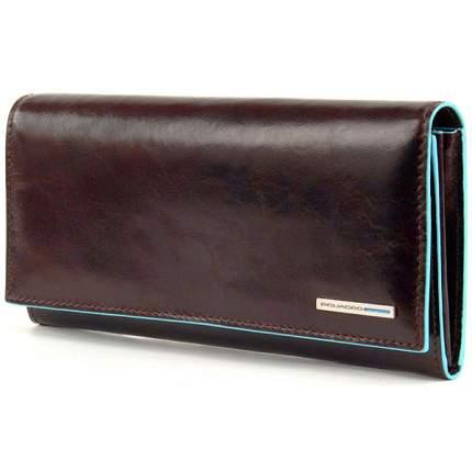 Портмоне Piquadro Blue Square, цвет коричневый, 19х10х2,2 см