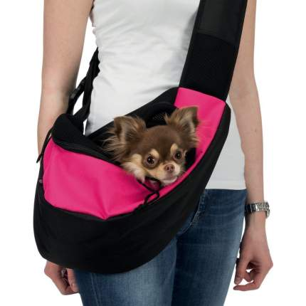 Слинг-переноска для собак TRIXIE Sling, розово-черный, 50x25x18 см