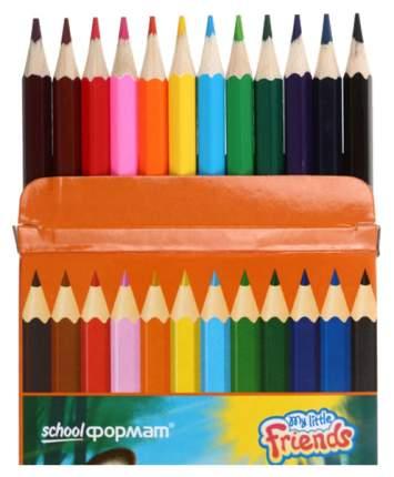 Набор цветных карандашей ПУШИСТЫЕ ЗВЕРЯТА 12 цв. шестигранные