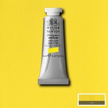 Гуашь Winsor&Newton Designers Gouache желтый лимон 14 мл