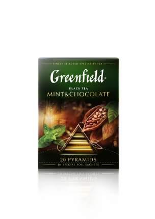 Чай черный Greenfield в пирамидках mint&chocolate 20 пакетиков