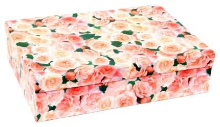 Набор подарочных картонных коробок Нежные розы, 5 шт. от 32x20x8 см до 40x28x10 см