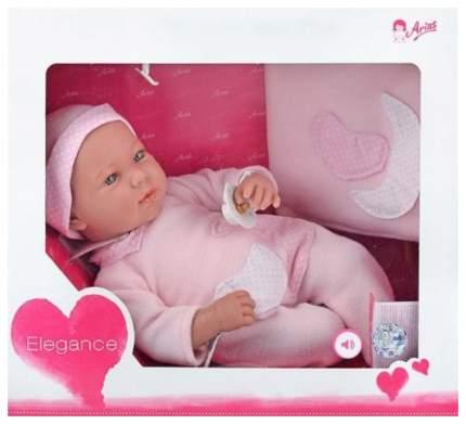 Пупс Arias Elegance в розовом костюмчике с конвертом 45 см