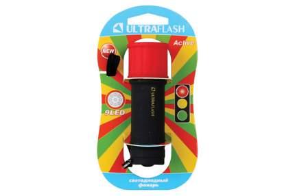 Туристический фонарь Ultraflash LED15001-A черный/красный, 1 режим