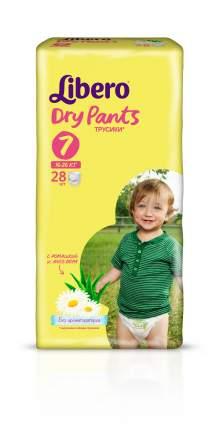 Подгузники-трусики Libero Dry Pants Size 7 (16-26кг), 28 шт.