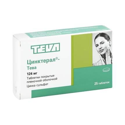 Цинктерал таблетки, покрытые оболочкой 0,124 г 25 шт. Польфа