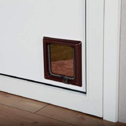 Дверца для кошек TRIXIE с 2-мя функциями 14,7х15,8см коричневая
