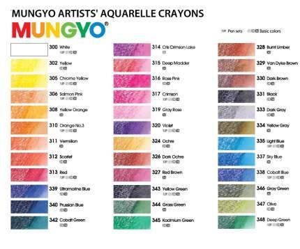 Набор профессиональных акварельных мелков Mungyo GALLERY, 24 цвета