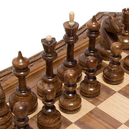 Шахматы резные Haleyan восьмиугольные в ларце, с ящиками 50