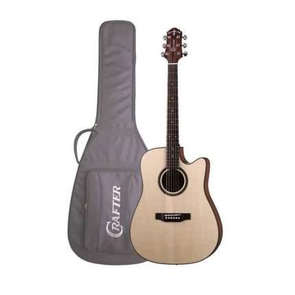 Электроакустическая гитара шестиструнная CRAFTER HILITE-DE SP /N  Чехол