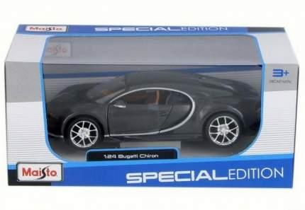 Машинка Maisto серая - Bugatti Chiron 2016г 1:24