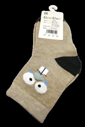 Носки детские высокие Мордочки бежевые, 1-3 года RoeRue NDVMR1-302