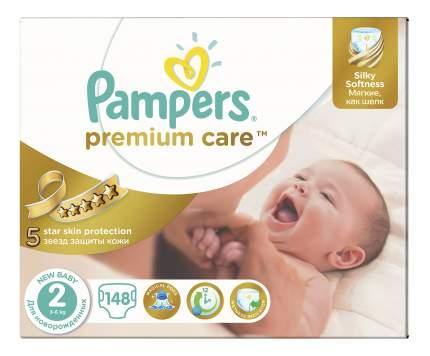 Подгузники Pampers Premium Care 2 (3-6 кг), 148 шт.
