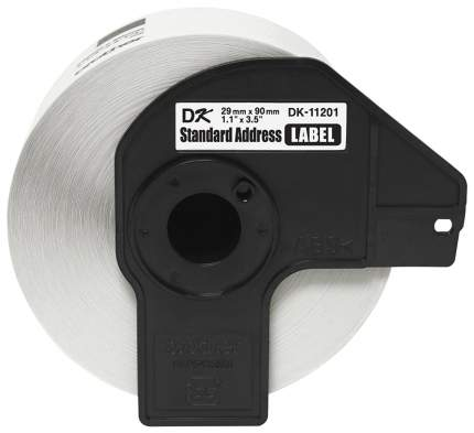 Лента для печати наклеек Brother DK11201 Black on white 29x90 мм 400 шт