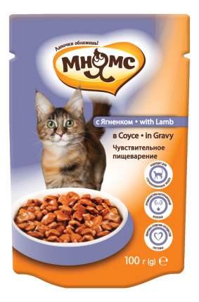Влажный корм для кошек Мнямс Чувствительное пищеварение, ягненок в соусе, 100г