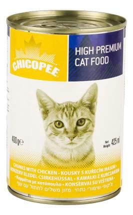 Консервы для кошек Chicopee Chunks Chicken, с кусочками курицы в соусе, 24шт по 400г