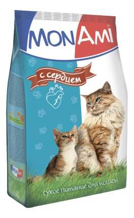 Сухой корм для кошек MonAmi, сердце, 10кг